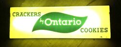 Rare Vintage Ontario Crackers Cookies Lighted Advertising Sign