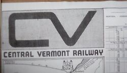 Central Of Vermont Railway - 1963/1964 16 X 20 System Map Complete Detailed