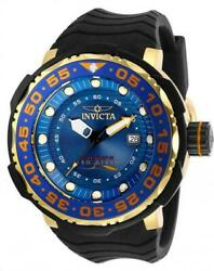 Pro Diver Sea Monster Automatic Menand039s 52mm Blue And Gold Watch 28784 Rare