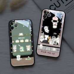 Tempered Glass Cases Call Light Up LED Flash Phone For iPhone X XR 11 12 Pro Max