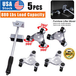Heavy Duty Furniture Lifter With 4 Triangle Moving Sliders, 880 Lbs Load Capacit
