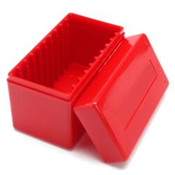 10 Red Capacity Holders Slab Storage Boxes Case Plastic Coin Slabs For Pcgs-ngc