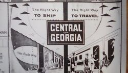 Central Of Georgia Railway - 1963-1964 - 16 X 20 System Map Complete Detailed