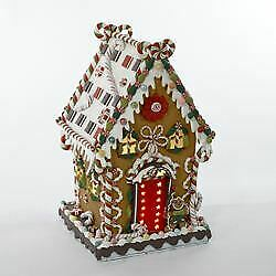 Kurt Adler Cookie/candy House W/c7 Light Table Piece, Red