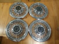 14 Oem Ford Wire Hubcaps 4 Mustang T-bird Capri Cougar E3sz1130d H829 Nice