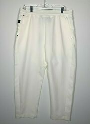 Nike Sportswear Tech Pack Cropped Woven Pants Ivory Black AR1562 133 Men#x27;s NWT