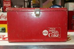 1950's-60's Original Coca-cola Things Go Better With Coke Ice Chest Cooler