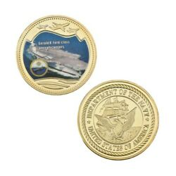 U.s. Navy Aircraft Carrier | Gerald R. Ford Cvn-78 | Gold Plated Challenge Coin