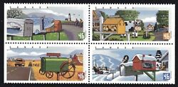 2000 - Canada Sc 1852a Rural Mailboxes - Block Of 4 Stamps Lot A81 M-nh
