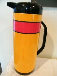 Vintage Collectible Thermos Signed Daniel Hechter Art Deco 12 Glass Lined