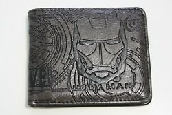 Marvel Iron Man Avengers Wallet Brown Coins Cards Notes Trifold