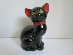 Vintage Ceramic Redware 5quot; CAT Japan
