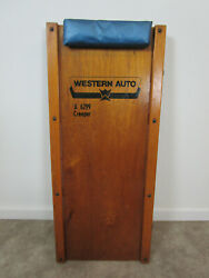 Vintage Western Auto Garage Creeper Mechanics Dolly A6299 Wood Roller Wooden