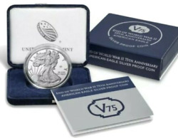 2020 End Of World War 2 Ii 75th Anniversary American Eagle V75 Silver Proof Coin