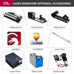 Co2 Laser Engraver Accessories - Chiller Rotary Axis Laser Power Tube Autofocus