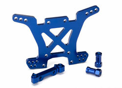 Traxxas Part 6838x Shock Tower Rear 7075-t6 Aluminum Blue Anodized New In Box