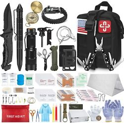 Emergency Survival Kit First Aid Gear Military Molle Trauma Bag Professional 152