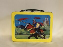1959 Rare Vintage Knight In Armor Lunchbox Metal Lunch Box