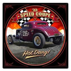 Classic Hot Rod Race 1933 Speed Coupe Metal Sign Man Cave Garage Body Shop 5