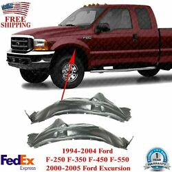Fender Liner Set For 1999-2005 Ford F-250 Super Duty Front Left And Right 2pcs