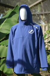 Nwt Tampa Bay Lightning Blue Authentic Pro Rinkside Full-zip Jacket 150 | L