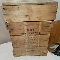 Vintage Kodak 6 Gallon Carboy And Wooden Box 1948 Extremely Rare