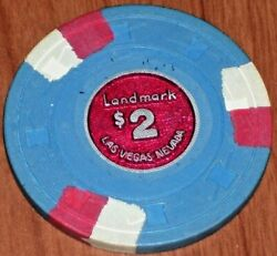 2 Vintage 1976 2nd Edition Gaming Chip From The Landmark Casino In Las Vegas