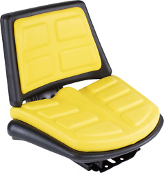 Yellow Seat W/ Trapezoid Back Fits John Deere Several T110yl