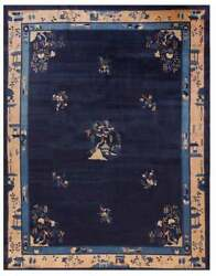 Antique Chinese - Peking Rug 9and0392 X11and0396