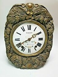 L. Barbot A Merdrignac French Louis Philippe Morbier Tall Case Clock Movements