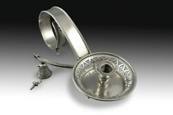 Sterling Silver Candlestick, 19th Century. With Contrast Marks And Initials