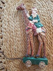 Old World Vintage Giraffe Child Christmas Ornament Holiday Large 8 3/4 Tall