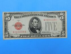 1928 F 5 Red Seal Currency United States Note 39