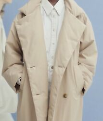 Lemaire Uniqlo 2020 Women Trench Puffer Coat L Beige Sold Out Luxury Fashion 🔥