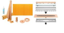 Schluter Linear Shower Kit With 36 X 55 Inches Offset Tray Kslt915/1395s