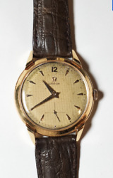 Omega Menand039s 18k Gold Cal. 265 Dress Watch - Vintage Swiss From 1940s - 36mm