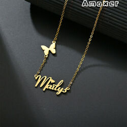Amaxer Personalized Butterfly Letter Custom Name Necklace Pendant Woman Jewelry $7.99