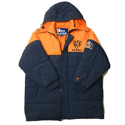 Vintage Nfl Chicago Bears Pro Player Winter Jacket Long Parka Xlarge Spell Out