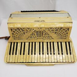 Galanti Bros N.y Super Florence Piano Accordion, Pearlescent With Case, Italy