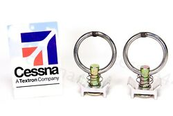 Cessna - Pilatus Cargo Tie Down Ring Anchor Track Aircraft Airplane New Set Of 2
