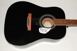 Bruce Dickinson Signed Autograph Gibson Epiphone Acoustic Guitar - Iron Maiden