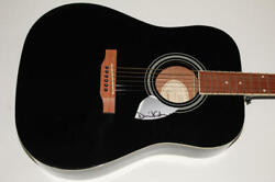 David Gilmour Signed Autograph Gibson Epiphone Acoustic Guitar - Pink Floyd Rare
