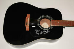 Johnny Winter, Edgar Winter Signed Autograph Gibson Epiphone Acoustic Guitar Jsa