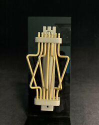 Star Of David Agam-like Sculpture Pewter .999 Mezuzah Cover Signed W/ Desk Stand