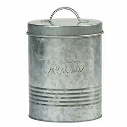 Amici Home Retro Treats Storage Canister For Pet Food 72 Oz - Galvanized Metal