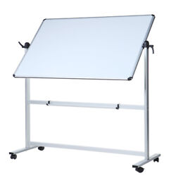 Viz-pro Magnetic Mobile Dry Erase Board 48and039and039 X 36and039and039 White Board With Stand