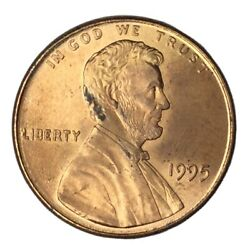 1995 1c Lincoln Cent Double Die Bu Rd