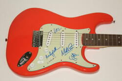 Ride Full Band Signed Autograph Fender Brand Electric Guitar - Andy Bell +3 Jsa