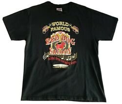 Vintage Hanes Heavyweight Usa Single Stitch The Red Dog Saloon Tshirt Size Large