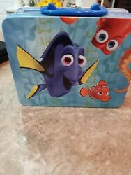 Disney Finding Nemo With Dory Embossed Metal Lunch Box Pre-owned